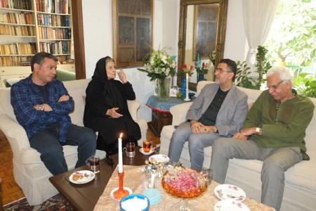 دیدار رییس سازمان سینمایی و هیات همراه با خانواده داوود رشیدی