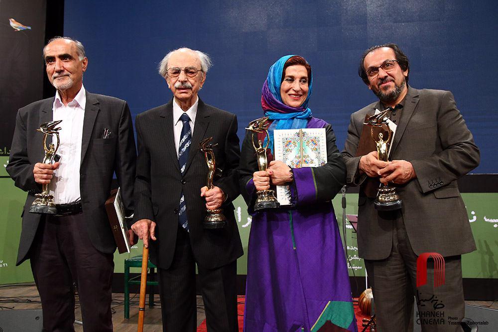 مراسم نکوداشت چهار چهره سینمایی از مجموعه برنامه های جشن خانه سینما برگزار شد