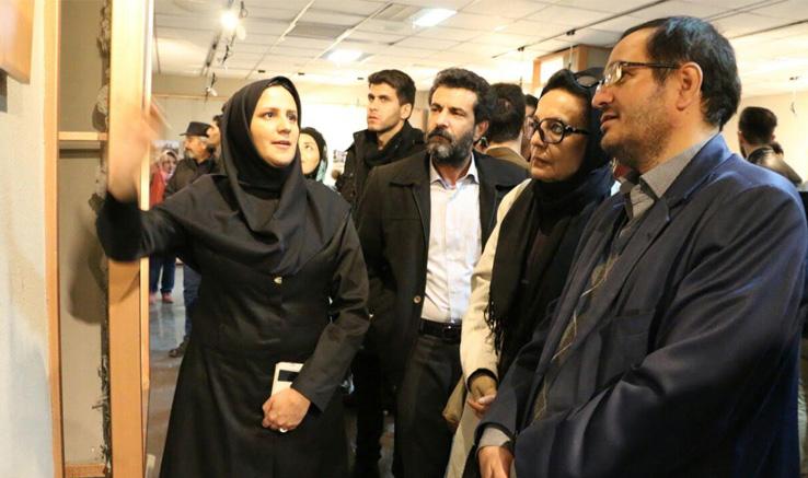 بازدید مسئولان استانی از آثار هفته فیلم و عکس زنجان