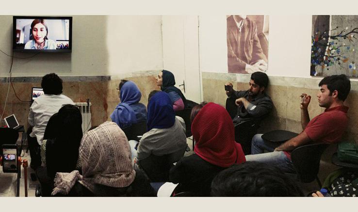 گفتگوی تصویری با «آزاده ایرانبان» درکارگاه انیمیشن دفتر قزوین