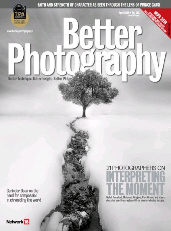 عکسی از جوان مشهدی روی جلد BETTER PHOTOGRAPHY