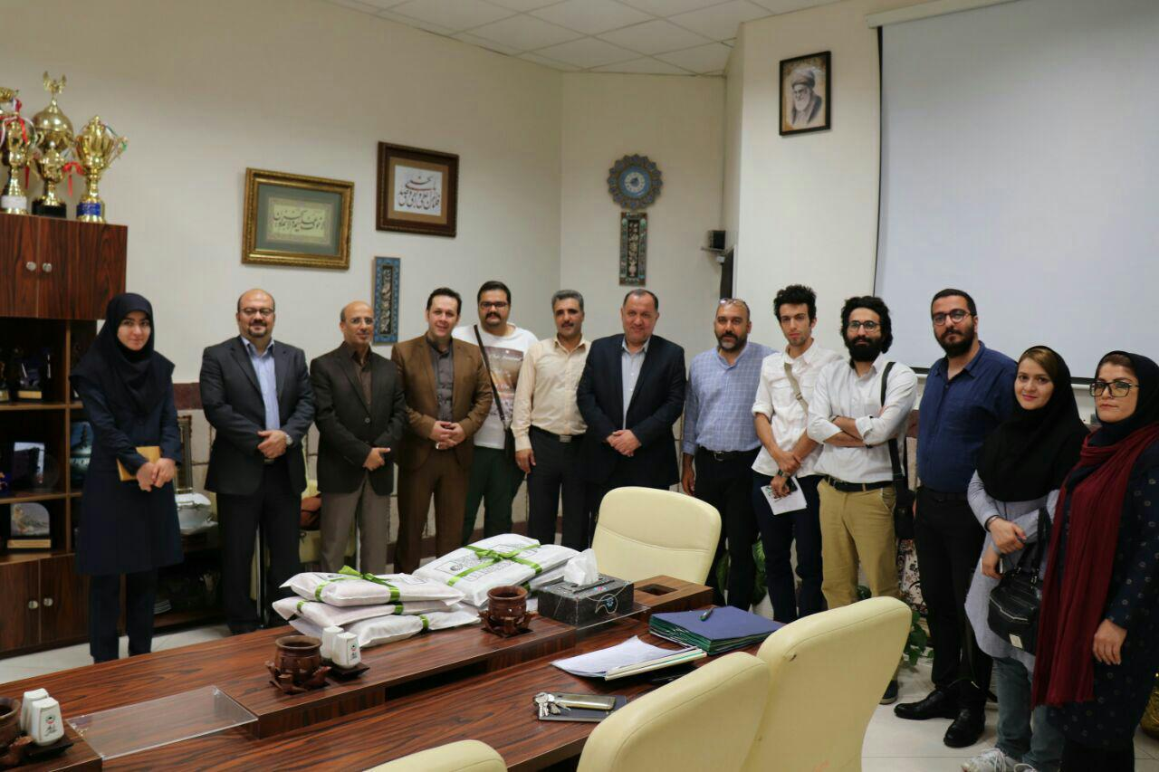 دیدار اعضای انجمن سینمای جوانان قزوین با مدیر عامل فرهنگی، اجتماعیاین استان