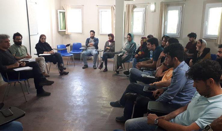 حضور معاون آموزش انجمن در جمع فیلمسازان همدان