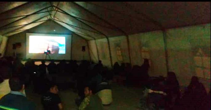 برپایی «سینما اربعین» در مرز ایران و عراق