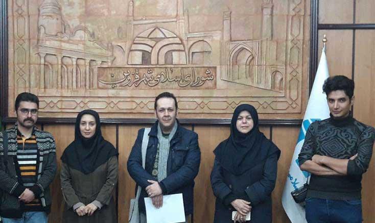 دیدار مدیر انجمن سینمای جوانان استان قزوین با کمیسیون فرهنگی شورای اسلامی شهر قزوین
