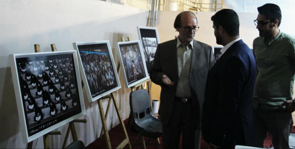 بازدید مسئولین از غرفه انجمن در نمایشگاه قرآن مشهد