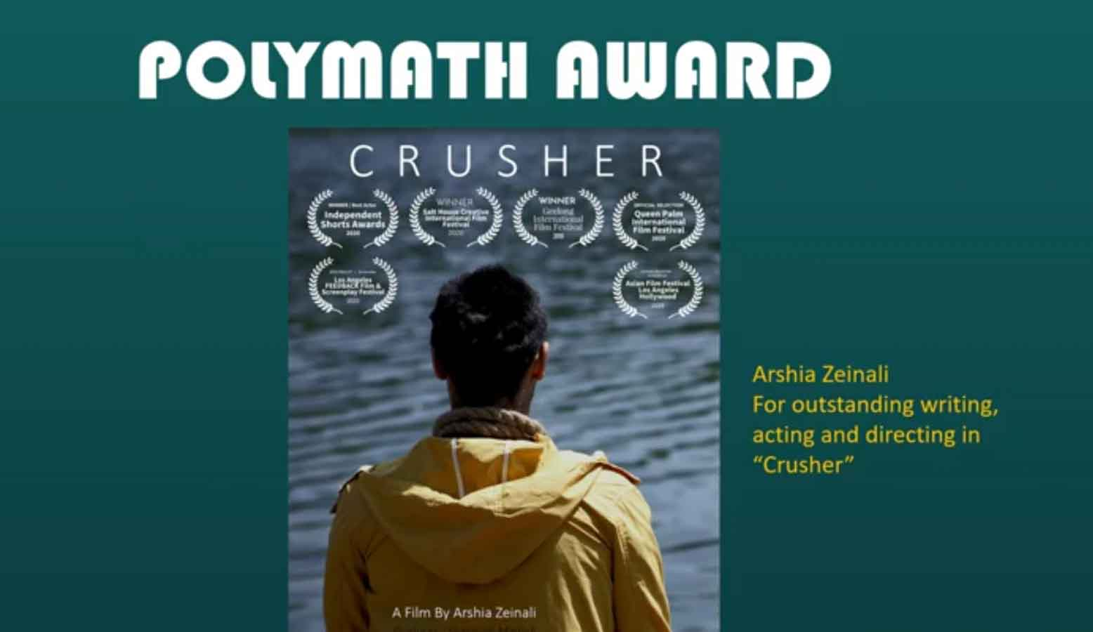جایزه ویژه جشنواره Fly Film برای «سنگشکن»