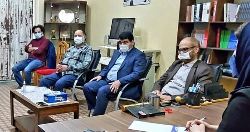 بازدید معاون فرهنگی منطقه آزاد از انجمن سینمای جوانان انزلی