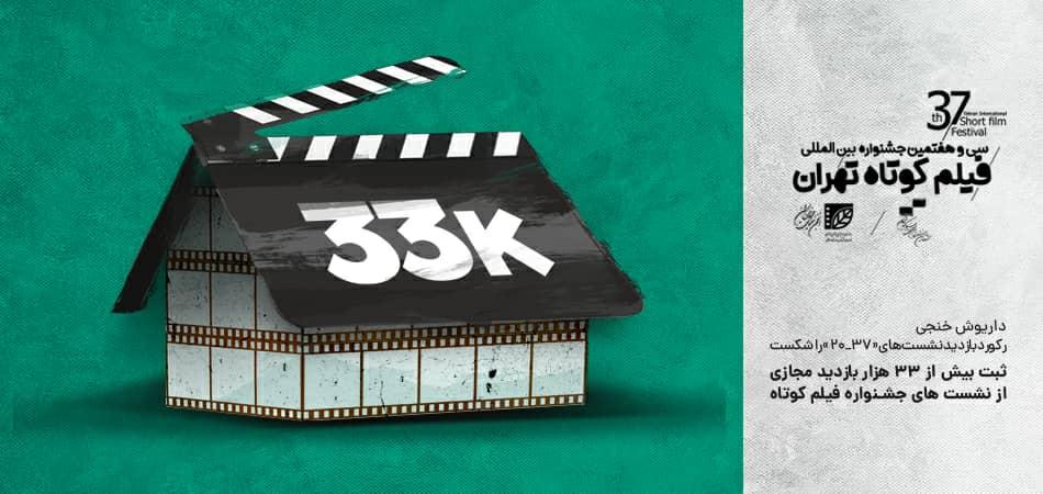 داریوش خنجی رکورد بازدید نشستهای «37_20» را شکست؛ ثبت بیش از 33 هزار بازدید مجازی از نشستهای جشنواره فیلم کوتاه تهران