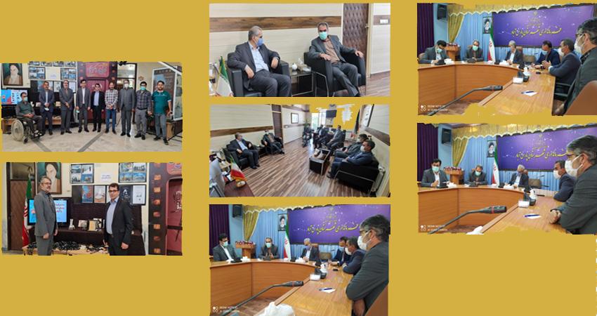 بازدید مدیران فرهنگی استان اردبیل ازدبیرخانه هفتمین جشنواره فیلم، فیلمنامه و عکس مغان
